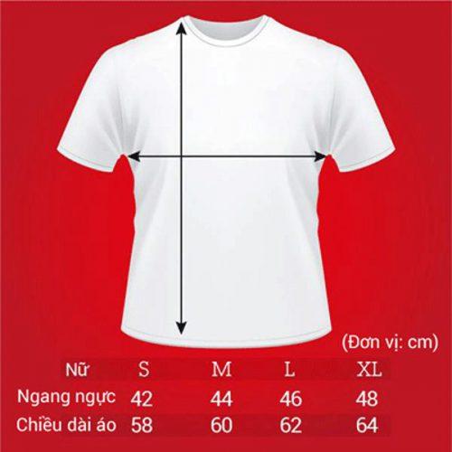 Tư vấn chọn size áo thun đồng phục