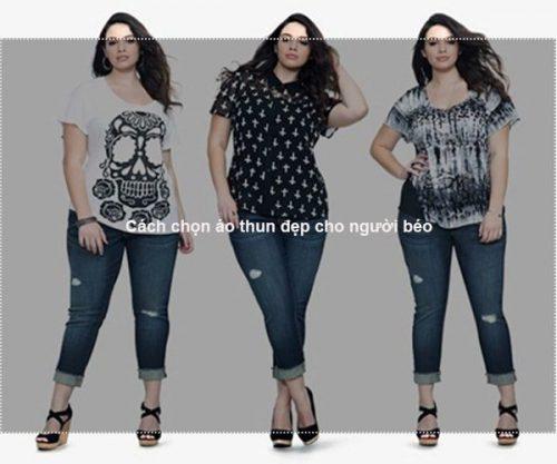 Cách chọn áo thun đẹp cho người béo