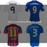 Dịch vụ in áo bóng đá lấy liền giá rẻ